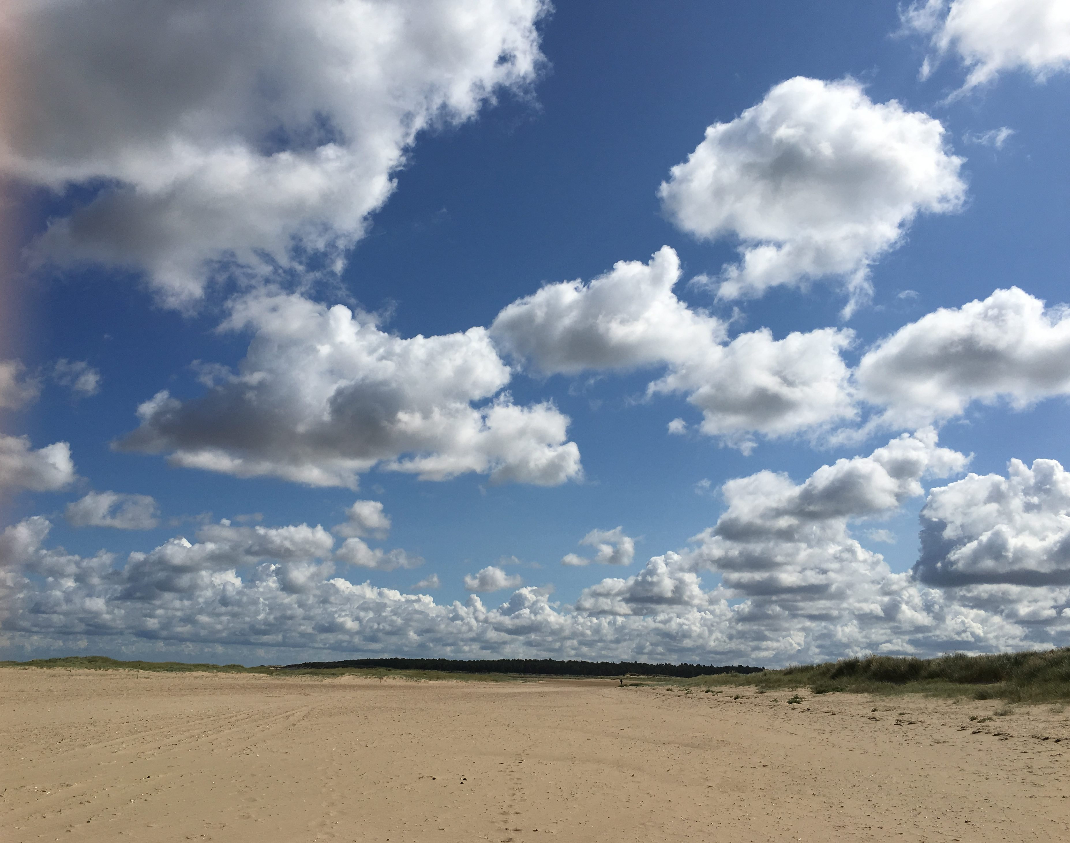 Norfolk beach in sunshine